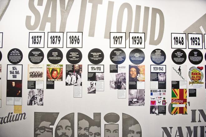 Vue de l'exposition, un fil historique © Cité de la musique